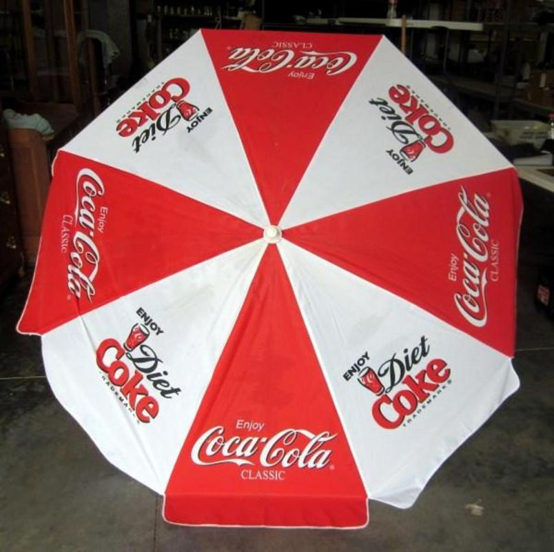 Lot 315 Of 418 Coca Cola T E Patio Umbrella 5 6 X 2