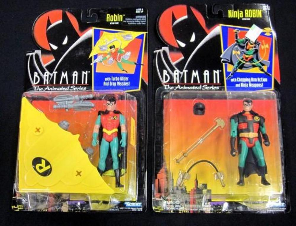 Lot 1211992 Batman The Animated Series Moc 5 Robin And Ninja Robin Action Figures Kenner Qty 2