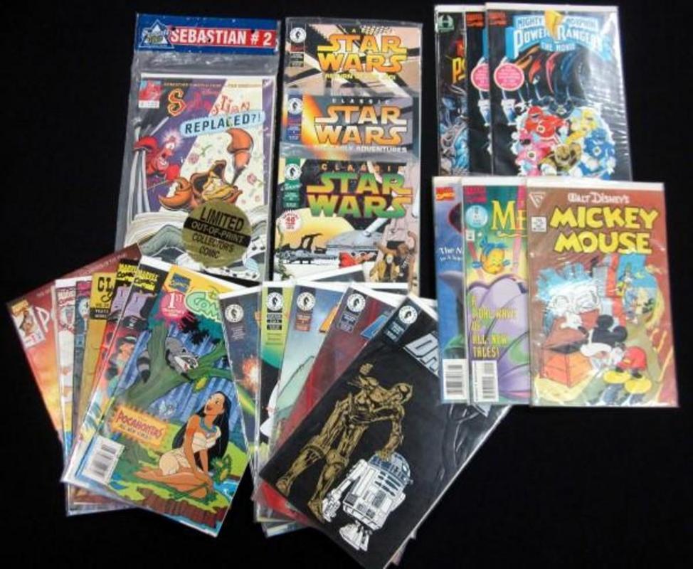 Disney, Power Ranger, Star Wars Comics, Includes Pocahontas, Aladdin