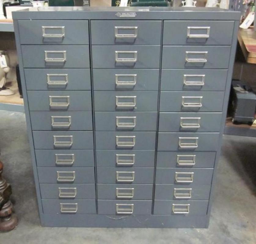 Steelmaster 30 Drawer Filing Cabinet 30 Quot W X 36 5 Quot H X 12 Quot D