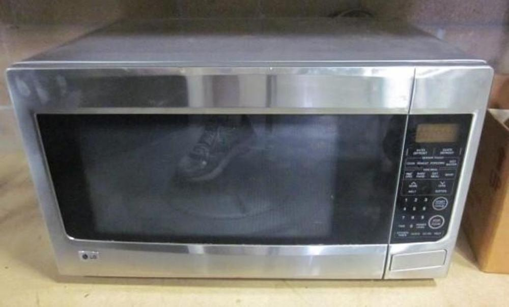 Lot 393 Of 503 Lg Lrm2060st 2 Cubic Foot Countertop Microwave Oven 1200w Stainless Steel 16 Turntable
