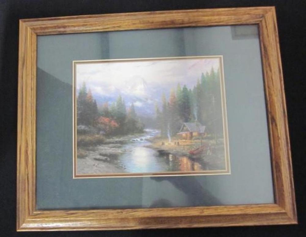Thomas Kinkade End Of A Perfect Day Ii Framed And Matted Print