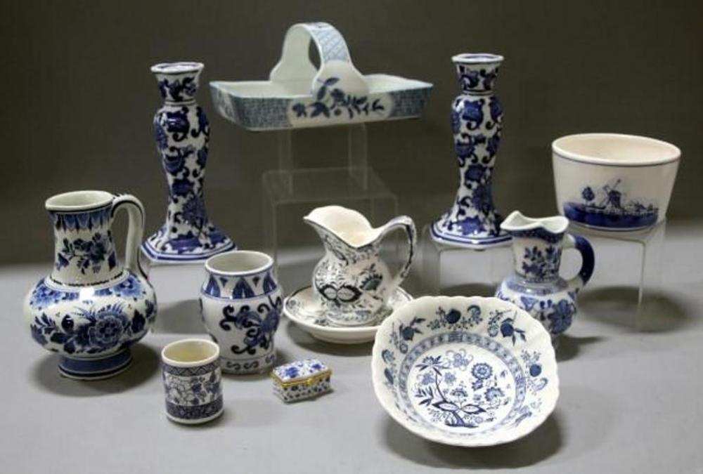 Blue And White Decorative Vases Candlestick Holders Bowls Basket