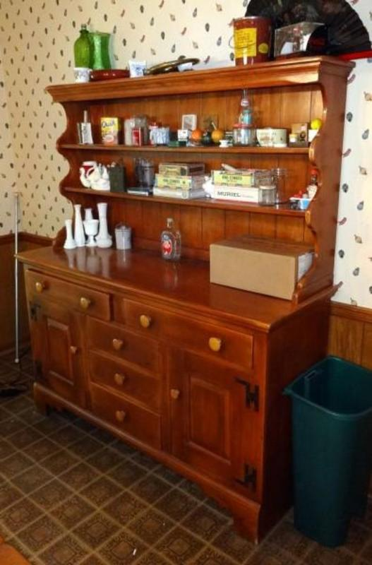 Lot 15 Of 491 Genuine Cushman Colonial Creation Kitchen Sideboard Buffet Contents Not Included 69 25 T X 60 75 W 28 5 D