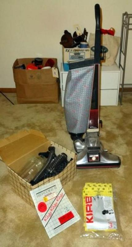 Lot 122 Of 491 Kirby Heritage Ii Vacuum System With Accessories And Spare Bags Original Paperwork