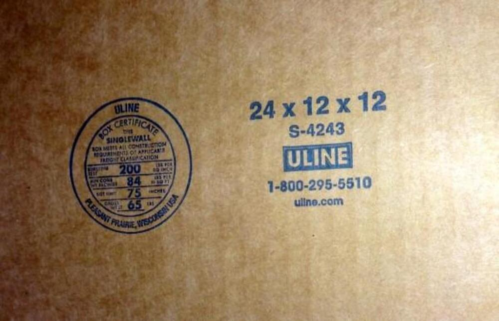 8d9bf052997 Lot 93 of 125  Uline Box Stock