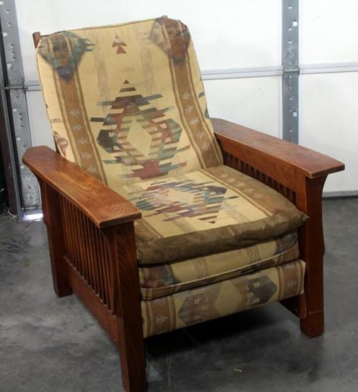Lot 10 Of 497 Southwest Style Mission Recliner 31 W X 37 H 5 D