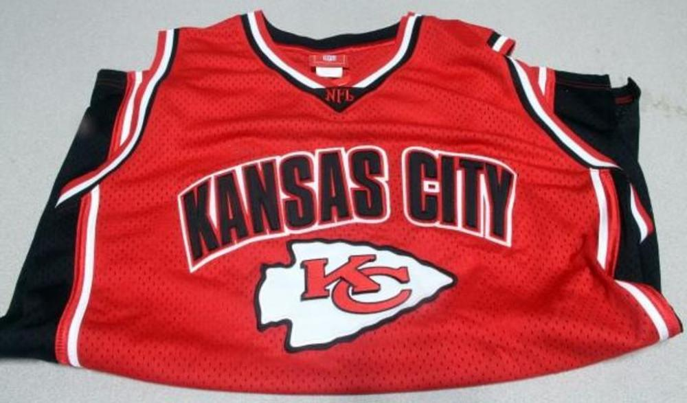 Lot 309 of 497  Kansas City KC Chiefs NFL Basketball-Style Jersey 48bc982cb