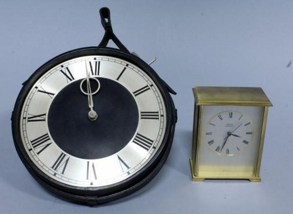 Lot 94 Of 341 Chelsea Chronoquartz Desk Clock And Scherraus Leather Strap Hanging Wall