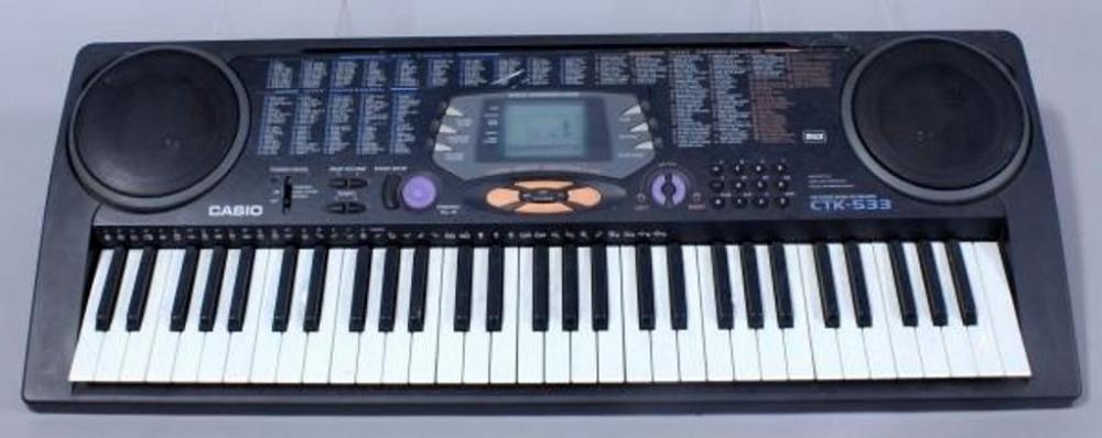casio ctk 533 digital piano keyboard 61 note midi 100 song sound bank rh bid auctionbymayo com Casio Ctk 550 Casio CTK- 471