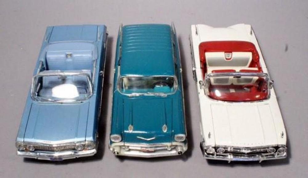 Lot 269 Of 520 1 18 Scale Cast Cars Welly 1963 Chevy Impala 1960 And Road Tough 1957 Nomad