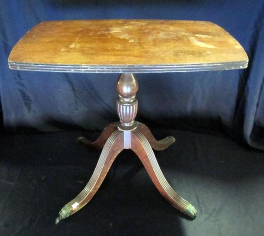 Lot 417 Of 520 Ferguson Furniture Empire Style Side Table With Metal Claw Feet 16 W X 19 H 23 D