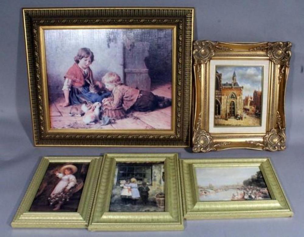 Original Oil Painting In Gilded Style Frame 15 X 17 Framed Art