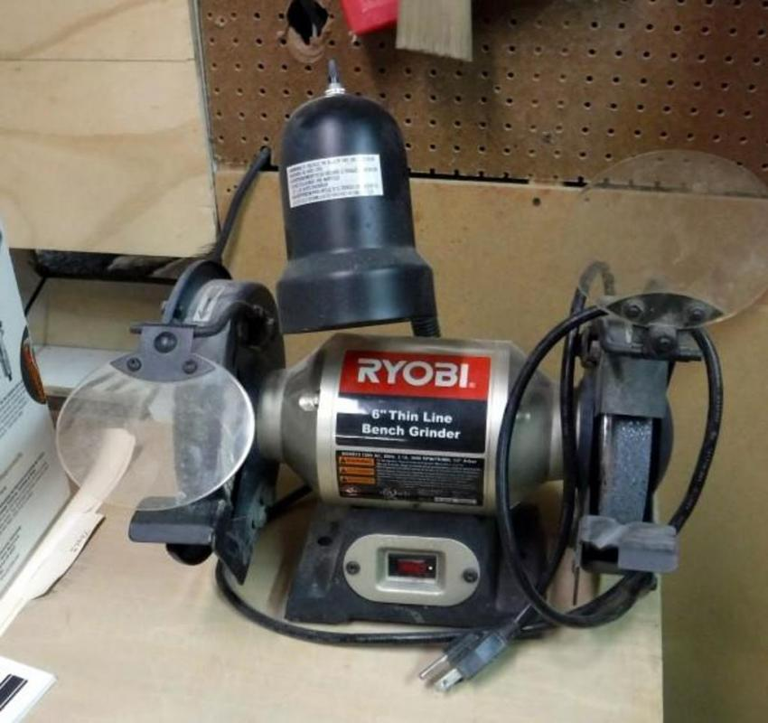 Enjoyable Ryobi 6 Thin Line Bench Grinder Model Bgh615 Alphanode Cool Chair Designs And Ideas Alphanodeonline