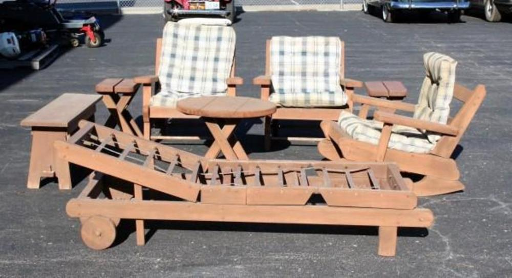 Outdoor Western Style Wood Patio Furniture