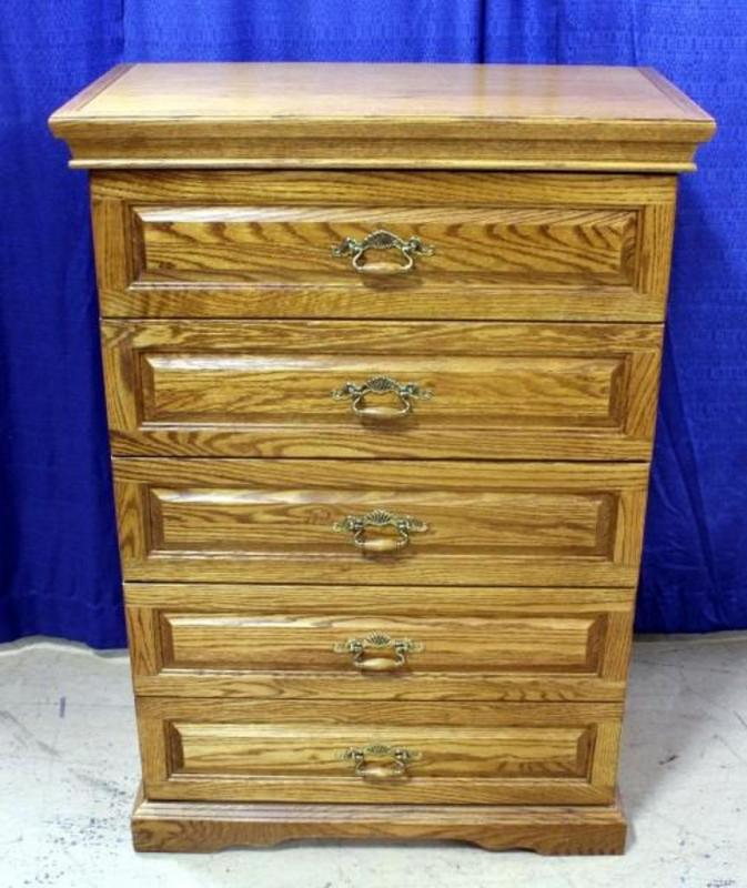 Honey Creek Lift Top Chest Of Drawers In Honey Oak Concealed