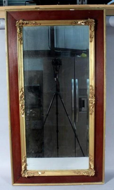 Lot 287 Of 369 Beveled Glass Rectangular Wall Mirror Ornate Details Heavy 26 X 48