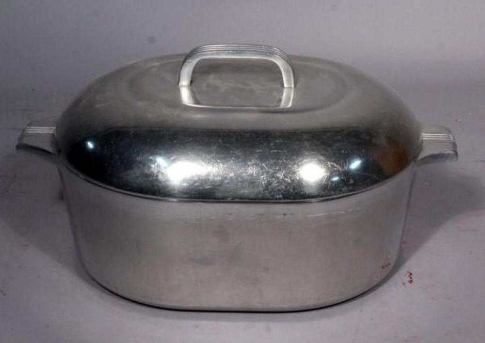 Lot 136 Of 445 Wagner Ware Sidney 4265 P 8 Quart Magnalite Cast Aluminum Roaster Pan Dutch Oven
