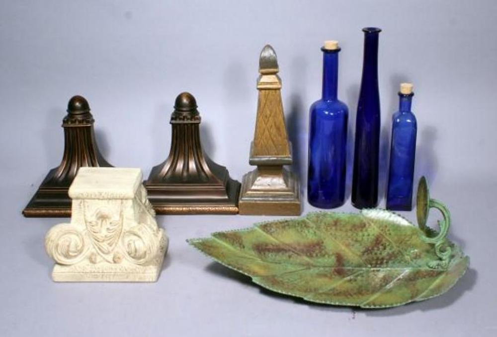 Lot 219 Of 445 Home Decor 14 T Obelisk Statue Three Hands Corp Wall Shelves 9 W Qty 2 19 Leaf Candle Holder Decorative Gl Bottles
