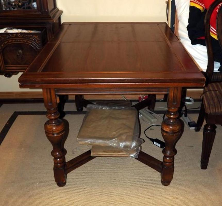 Heavily Carved Dining Room Table