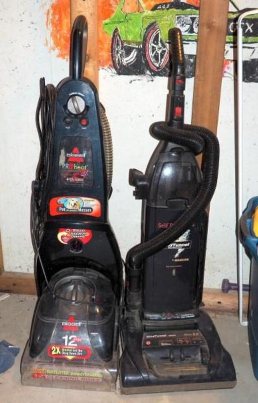Bissel Pro Heat 2X Steam Cleaner and Hoover Wind Tunnel Mach 69 Vacuum