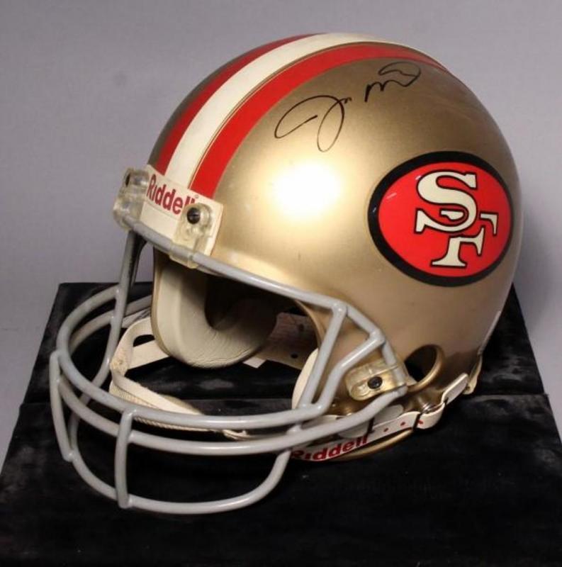 c51e4c182 Lot 196 of 559  Upper Deck Authenticated Joe Montana AUTOGRAPHED San  Francisco 49ers Full Size NFL Riddell Helmet