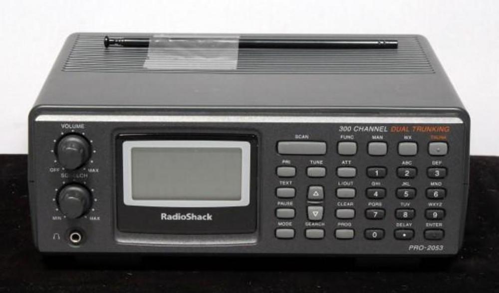 Radio Shack PRO-2053 Dual Trunking Scanner 300 Channel Radio Scanner