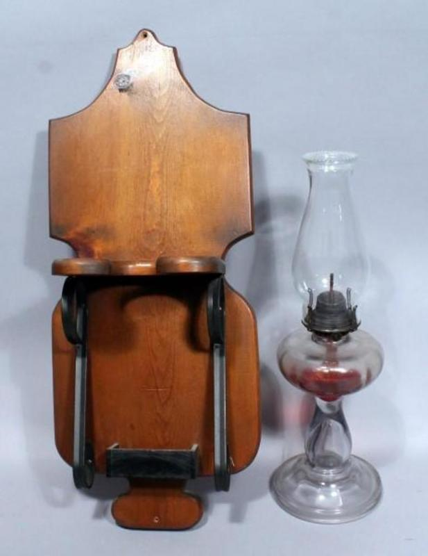 Browse Bid And Win Auctions, Vintage Wood Oil Lamp Holder