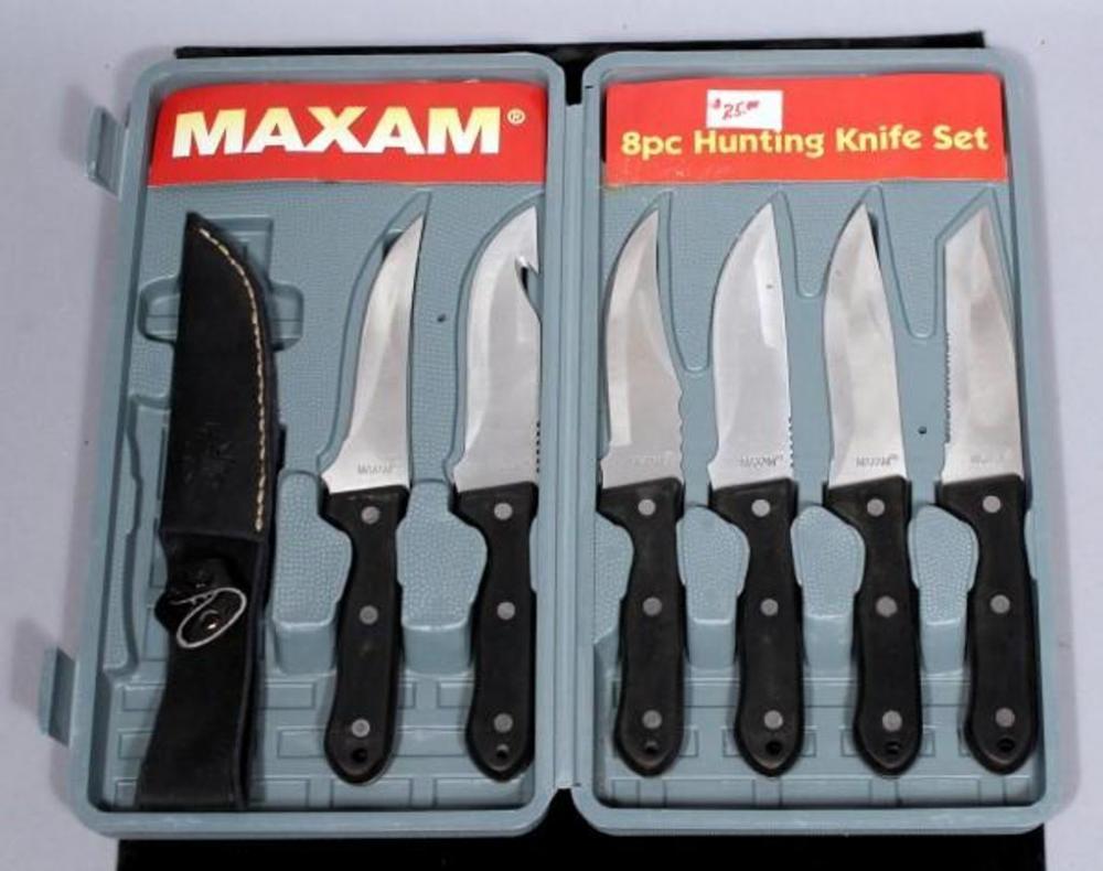 Maxam 8pc Hunting Knife Set, Unused