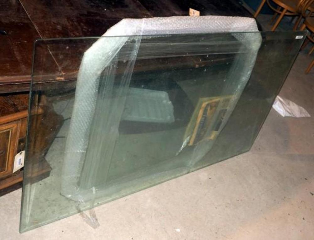 Lot 239 Of 310 Beveled Edge Glass Table Tops Qty 2 36 X 60 Rectangle And 38 5 Octagon