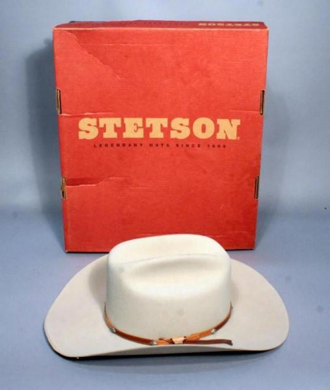 Lot 28 of 490  John B. Stetson Company 4X Beaver 61 Silver Belly Style Hat aaaf8de21ab