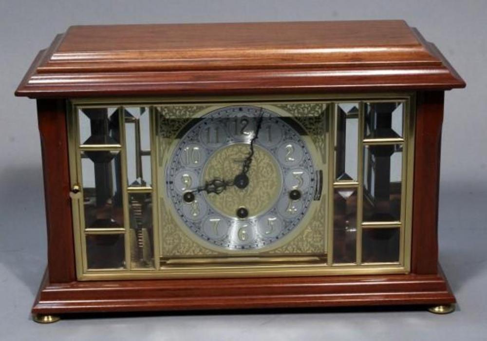 Ansonia Gold Medallion Clock Model 317 Beveled Glass W Key 145 X 9