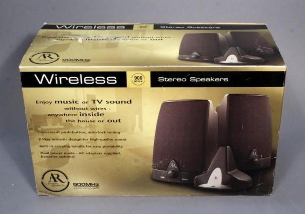 Lot 319 Of 490 Accoustic Research Wireless Stereo SPeakers 900 MHZ In Box