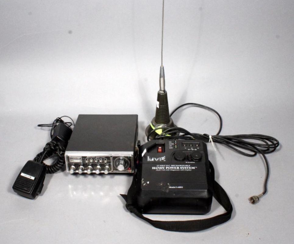 Midland Model 77-888 CV Radio MVF Model I-6001 Handy Power System