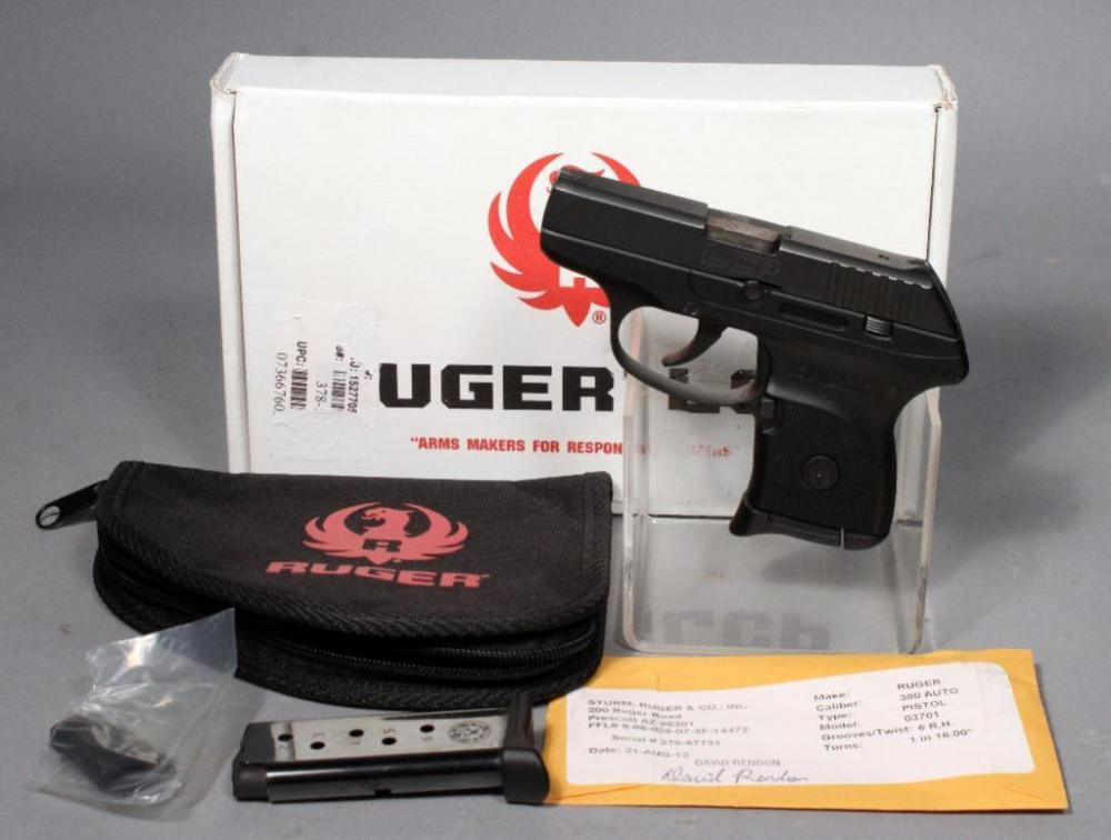 Ruger LCP Pistol,  380 Auto, SN# 378-57731, 2 Magazines, Soft Case