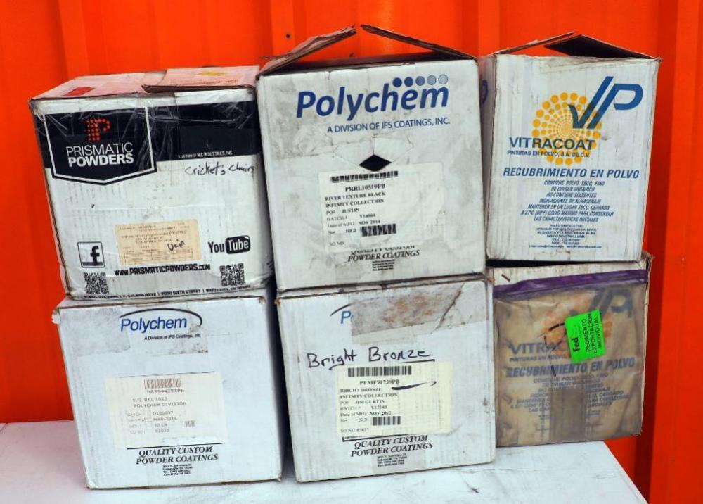 Powder Coating Powders, Qty 6, 1-10 lbs Per Box, Brands Include