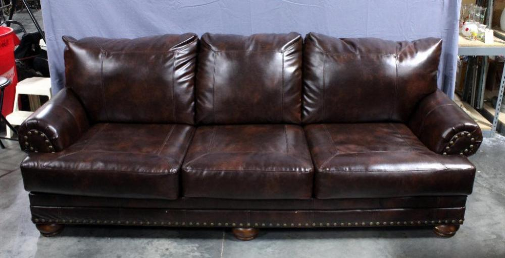 Lot 52 Of 277 Ashley Furniture Signature Design Antique Durablend Leather Sofa Number 9920038 102 L X 40 W 39 H Some Scratches And Cosmetic Flaws