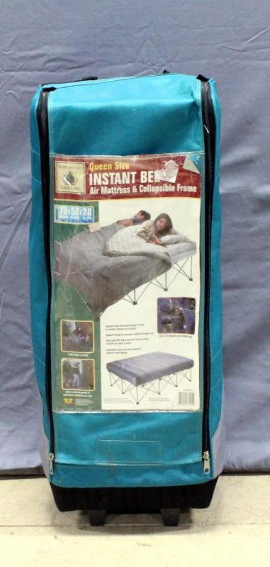 Lot 29 Of 149 Northwest Territory Queen Size Instant Bed Air Mattress Collapsible Frame 78L X 58W 28H
