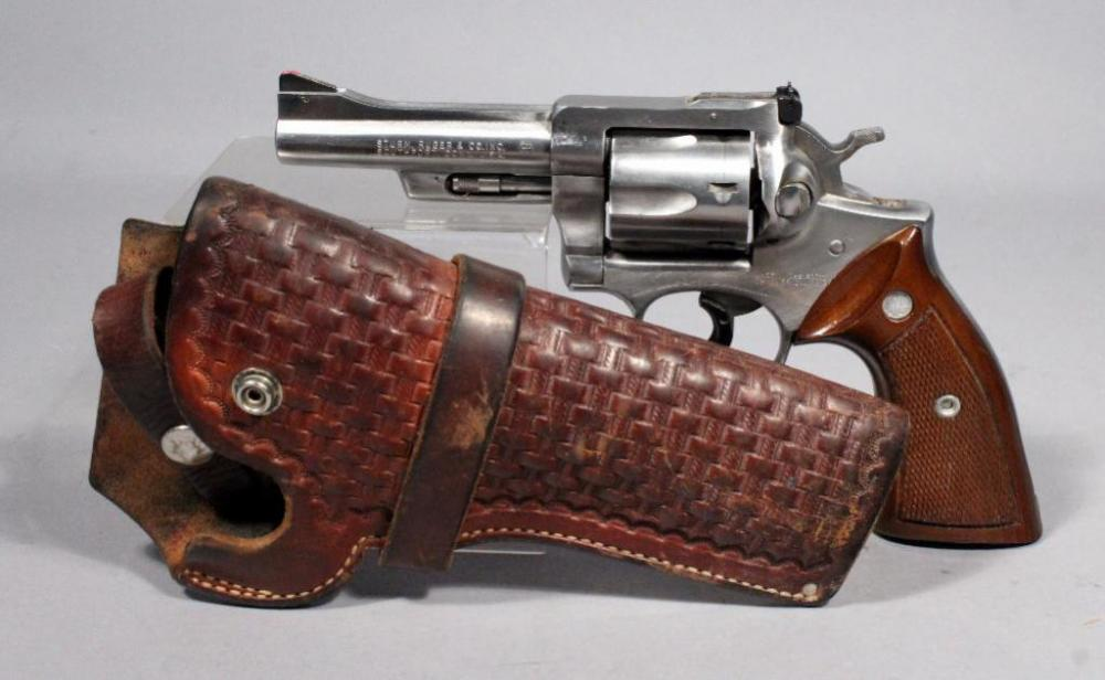 Ruger Security Six Revolver,  357 Mag, SN# Not Found, Tooled Leather