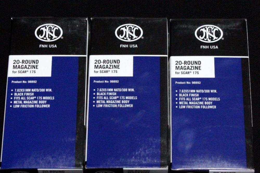 FNH USA SCAR 17S 20-Round Magazines, 7 62x51mm NATO / 308