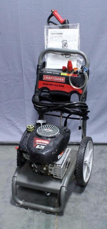 580. 752130 craftsman 2550 psi 2. 3 gpm pressure washer.