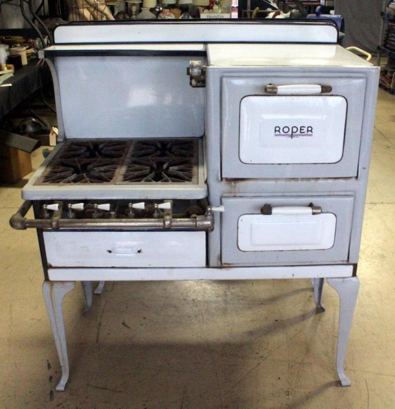 Lot 2 Of 238 1920 S Roper Porcelain Enamel Stove Oven Range Model 901r3t3 Type 113 Right Side 42 5 W X 50 H 19 D