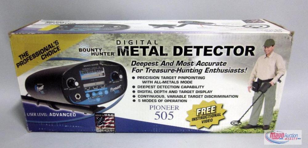 Test Meters & Detectors Bounty Hunter Pioneer 505 Metal Detector ...