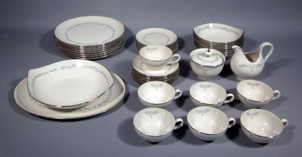 Lot 157B of 277 Taylorton American Fine China Masterpiece Pattern Dinnerware Set For 8 Includes Dinner Plates Bowls Bread Plates Cups u0026 Saucers More & Taylorton American Fine China Masterpiece Pattern Dinnerware Set For ...