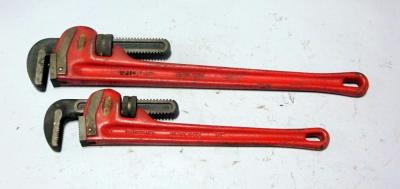 "The Ridge Tool Co Ridgid 24"" and 18"" Heavy-Duty Pipe Wrenches"
