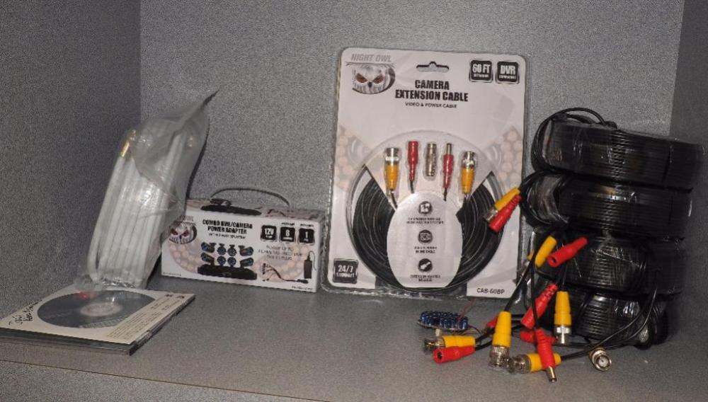 Night Owl Camera Extension Cable, 60\', NIP, Night Owl DVR-Camera ...