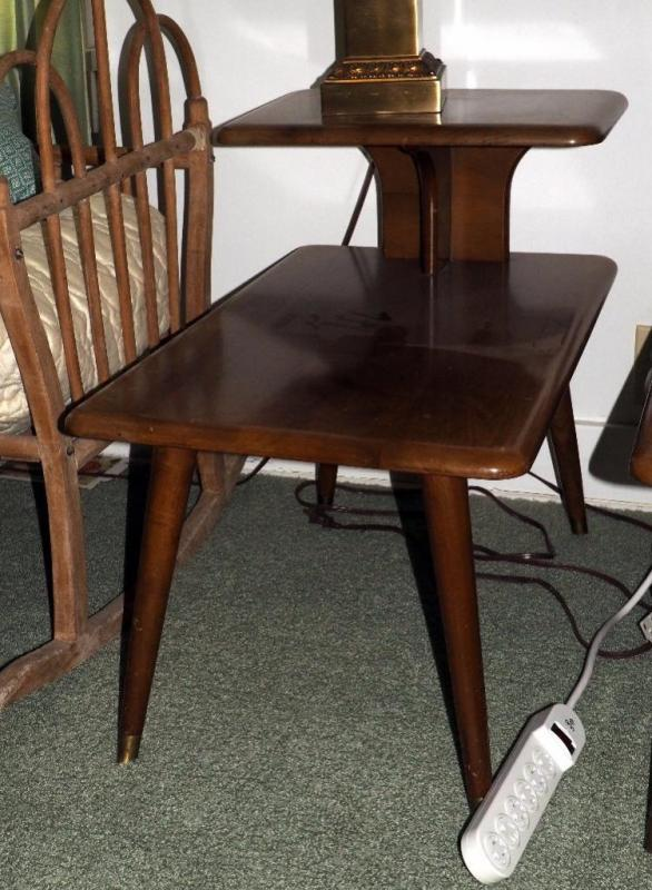 Mid Century Modern Telephone Table With Br Feet 24 H X