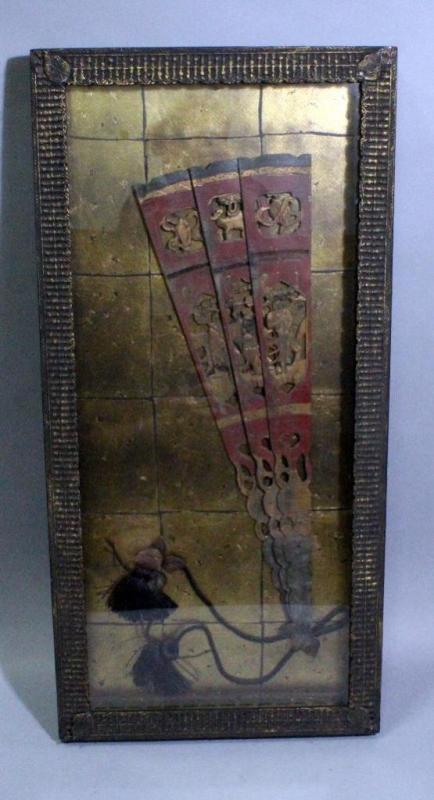 John Richard Fine Art Framed Oriental Fan Wall Decor, Heavy Frame ...
