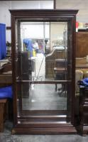 "Pulaski Furniture Two Way Sliding Door Curio Cabinet with Beveled Glass, #20542, 40""W x 80""H x 14""D, No Keys"