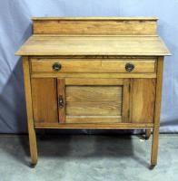 "Oak Washstand, Dovetail Constructed Drawers, 36""W x 38""H x 18""D"